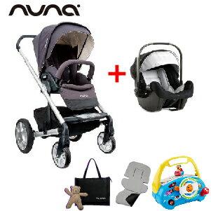 【超值組再送4大好禮】荷蘭【Nuna】MIXX 推車組(灰紫色)+PIPA提籃 - 限時優惠好康折扣