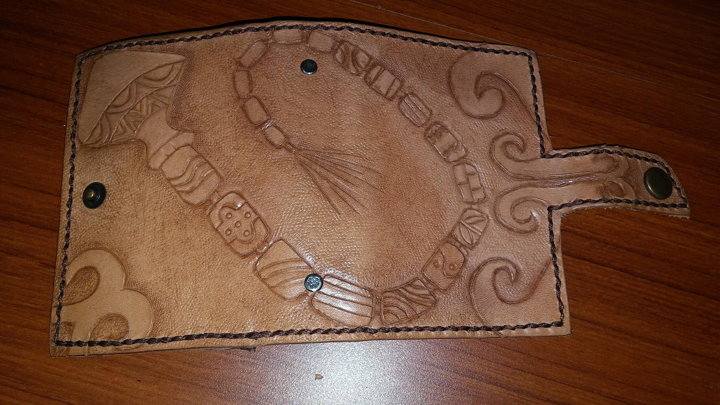 手工皮雕 原民風飾品圖騰  信用卡(名片、證件)夾 2