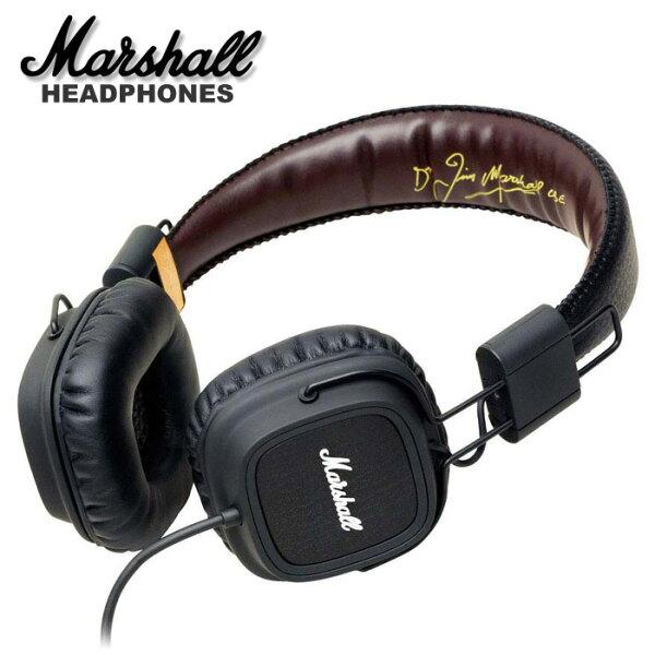 【非凡樂器】『Marshall Major 耳罩式耳機』有線控 公司貨保固 瀝青黑