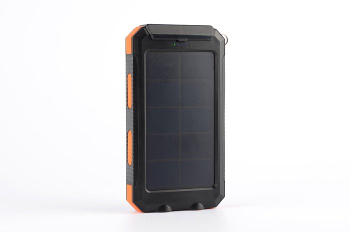 太陽能行動電源 10000mAh大容量行動電源 手電筒照明 指北針 ~  好康折扣