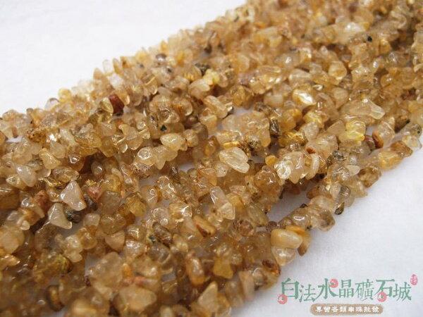 白法水晶礦石城 天然-鈦晶 4mm至10mm (有穿孔) 礦質  碎石 串珠/條珠 首飾材料