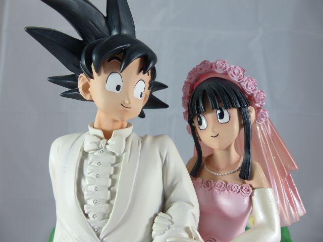 【秋葉園 AKIBA】七龍珠 孫悟空和琪琪的結婚典禮 公仔 GK模型 塗装完成品 限定品 2
