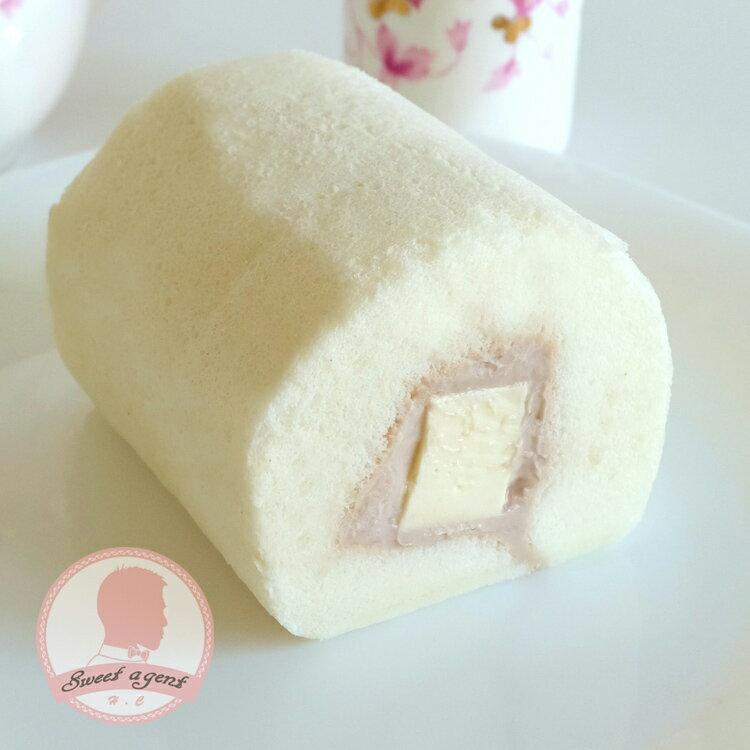 【甜點特務】[ 紫戀芋香奶凍捲 ] 芋香泥 + 鮮奶油 + 鬆綿蛋糕 3