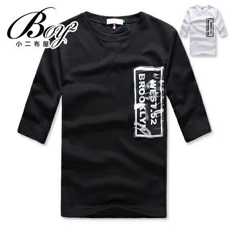 ☆BOY-2☆【NAA6015】韓版WEST.52簡約型男七分袖T桖 0