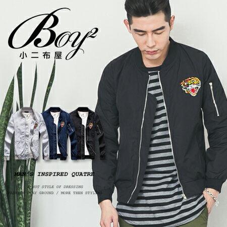 ☆BOY-2☆【NQ98001】潮流電繡老虎MA-1飛行外套