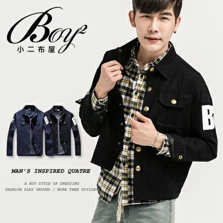 ☆BOY-2☆  【KK3500】 襯衫外套修身銅釦BEST印花 0