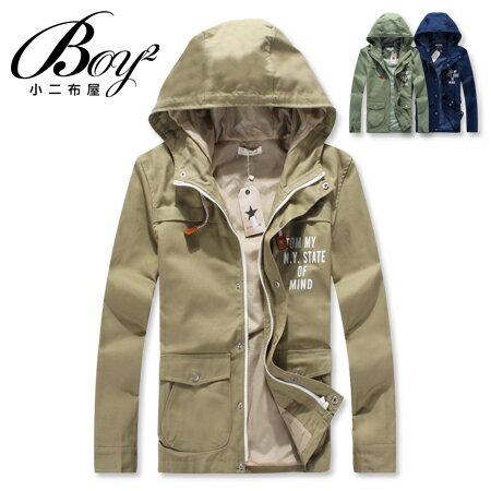 ☆BOY-2☆ 【KK509】連帽外套韓版英文印花 0