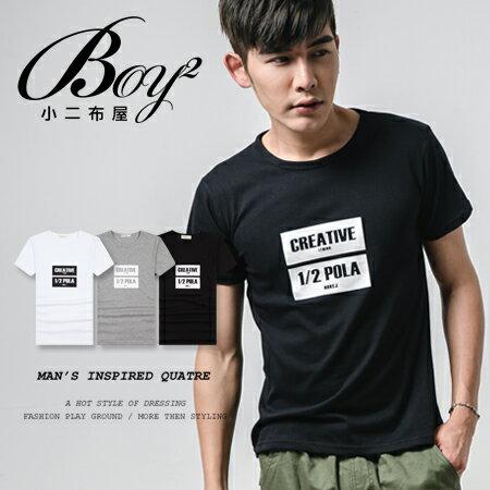 ☆BOY-2☆【NAL062】短袖T恤韓版休閒潮流素面色塊英文CREATIVE短T 1