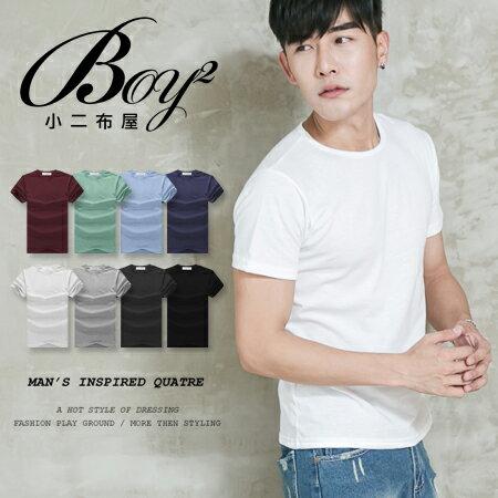 ☆BOY-2☆【NAL081】短袖T恤簡約素面圓領棉質休閒短T