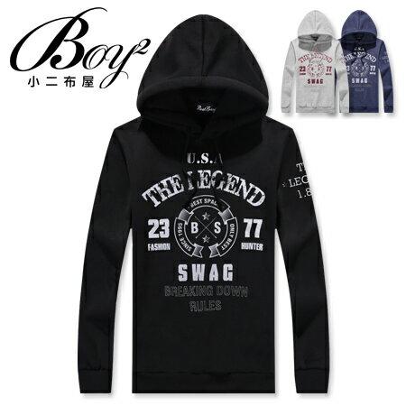 ☆BOY-2☆ 【NC0462】長袖帽T潮流街頭符號T恤 現+預 0