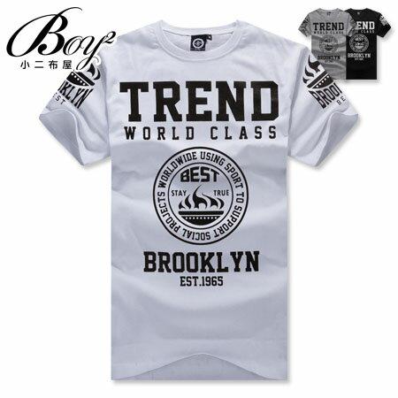 ☆BOY-2☆ 【ND4858】短袖T恤美式街頭符號印花TREND短T 1