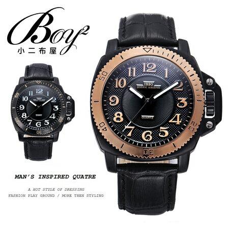 ☆BOY-2☆【NG023】真皮防水手錶 瑞士品牌IBSO 潮流時尚質感男錶 附盒提袋 0
