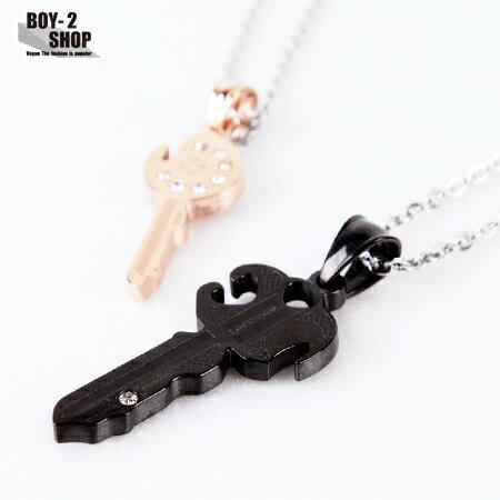 ☆BOY-2☆【NG064】鑰匙情侶項鍊對鍊-2色 現+預 0