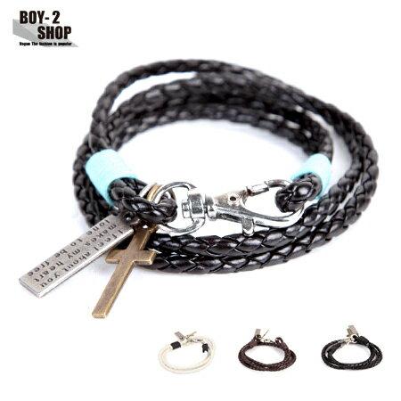 ☆BOY-2☆【NQH002】十字架編織型男手環 現+預 0