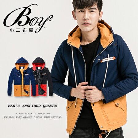 ☆BOY-2☆【NR00162】連帽外套休閒撞色拼接 1