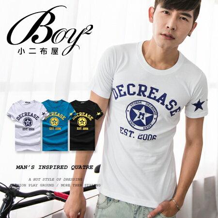 ☆BOY-2☆【OE10533】短袖T恤DECREASE美式潮流印花星星短T 0