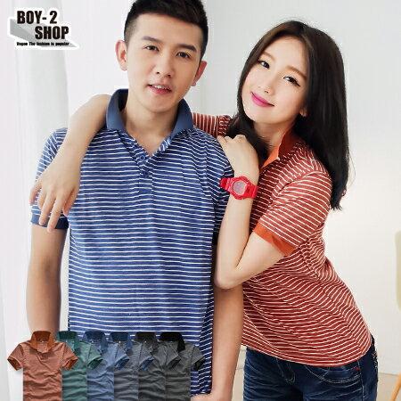 ☆BOY-2☆【PPK83015】橫紋休閒情侶POLO衫-6色 現+預 0