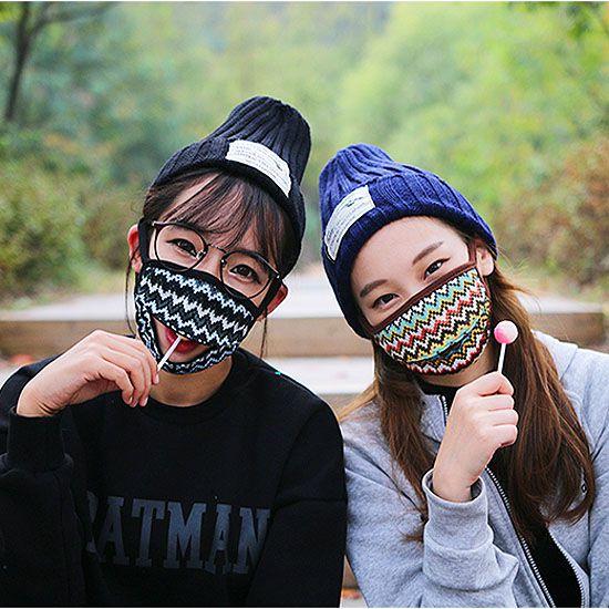 【露營趣】中和 Ridge Line 可開口進食加厚彩紋防風口罩 機車口罩 登山口罩 保暖口罩