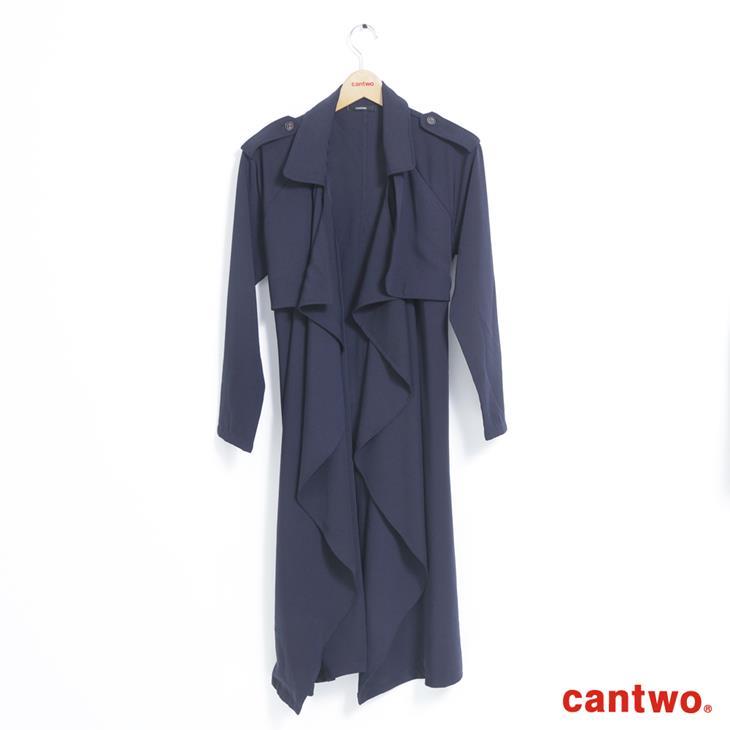 cantwo軍裝風軟料風衣(共二色) 6