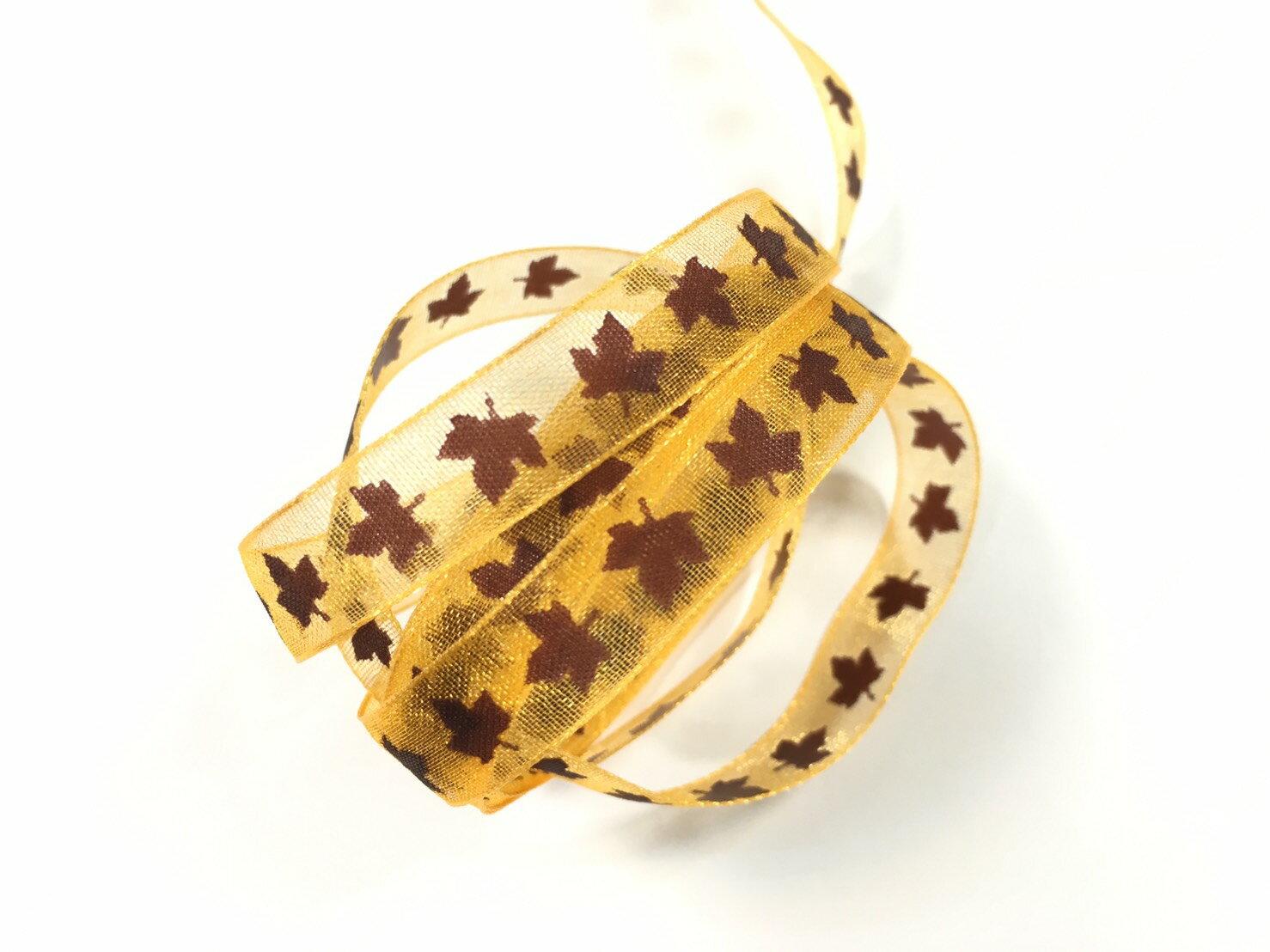 網紗秋楓緞帶 10mm 3碼裝(3色) 2