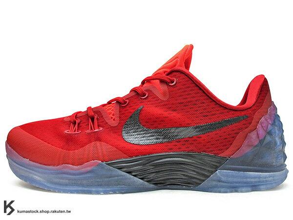 2016 KOBE BRYANT 子系列 戶外籃球鞋 NIKE ZOOM KOBE VENOMENON V 5 EP 低筒 五代 全紅 紅黑 冰底 毒液 前 後 ZOOM AIR 氣墊 耐磨橡膠外底 籃球鞋 (853939-606) 1016