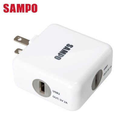 SAMPO 聲寶 2 USB(1A+2.1A)充電器 DQ-U1202UL