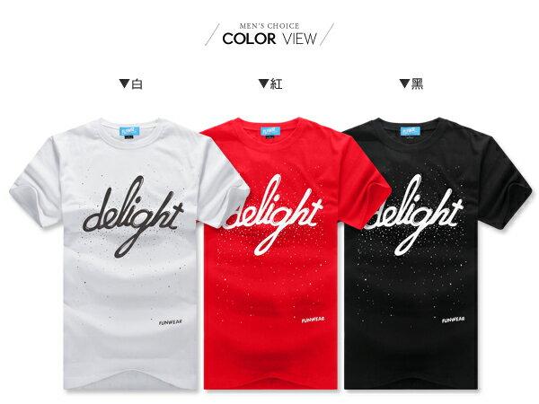 ☆BOY-2☆【YYF04】韓版潮流delight點點男裝短袖T恤 1