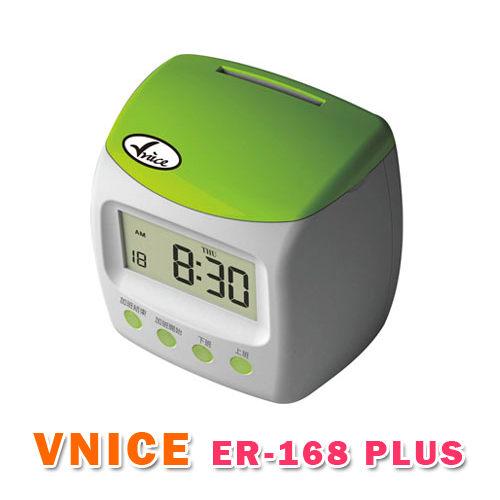 VNICE ER-168 PLUS 維娜斯 四欄卡鐘-蘋果綠 (贈卡架+卡片)/使用同優美卡片 1