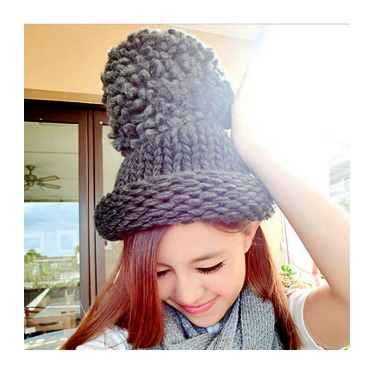 毛帽 素色麻花粗毛線反折針織帽【QI1751】 BOBI  11/03 1
