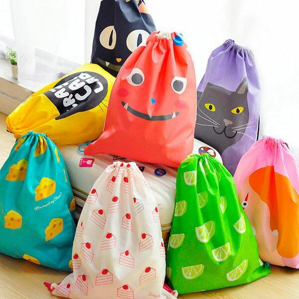 39元收納袋|韓系俏皮可愛旅行束口袋背包|日本牧野 收納包 鞋袋 包中包 旅行李箱 MAKINO