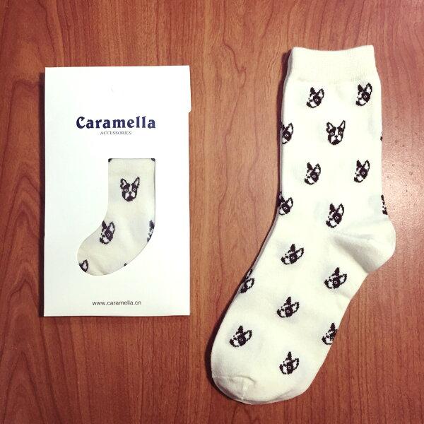 【開幕促銷】Caramella 法鬥 白色 中筒襪 短襪 船襪 隱形襪 五指襪 文青情侶 運動穿搭 阿華有事嗎 C0005