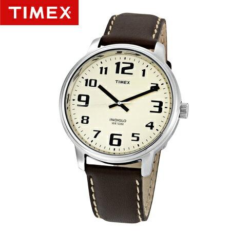 TIMEX天美時腕錶 NDIGLO冷光面盤 一鈕全控皮革手錶 柒彩年代【NE1678】原廠公司貨 0