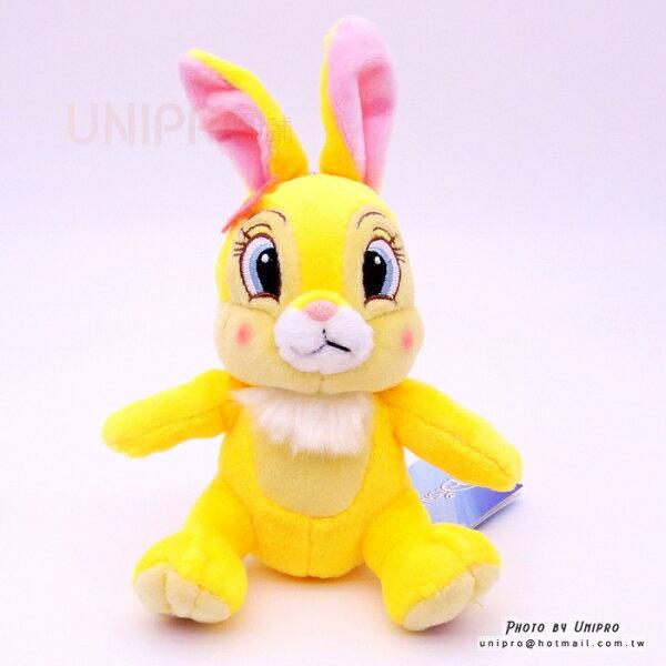 【UNIPRO】迪士尼正版 邦妮兔 15公分高 絨毛娃娃 玩偶 珠鍊吊飾 禮物 BUNNY 兔子 小鹿斑比