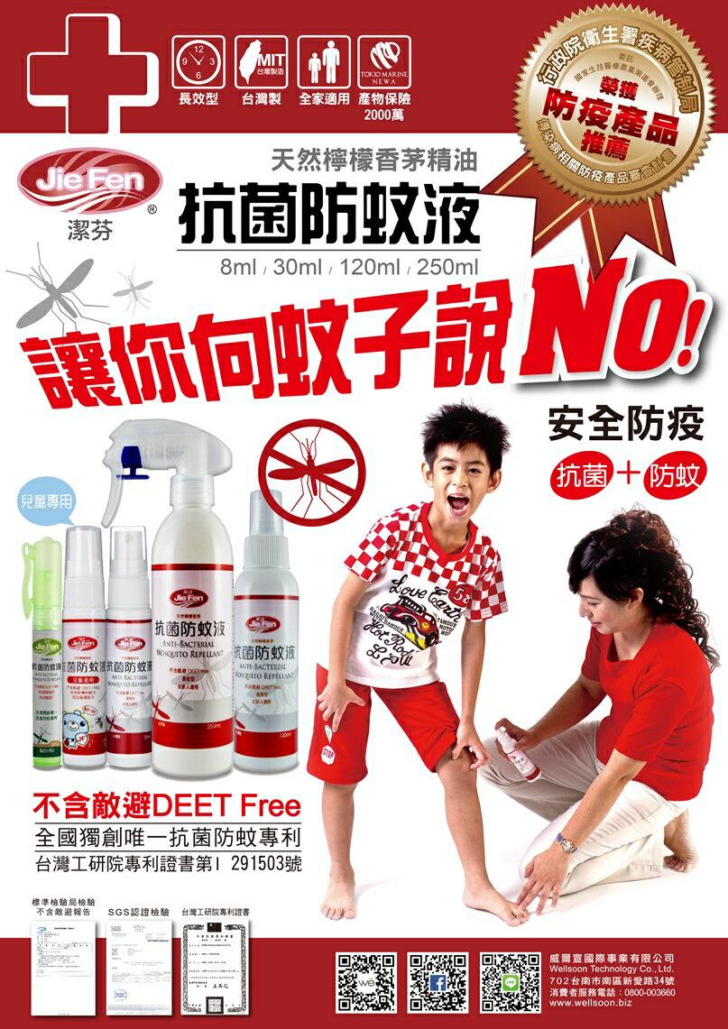 『121婦嬰用品館』潔芬 抗菌防蚊液 250ml - 檸檬香茅 2