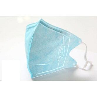 『121婦嬰用品館』AOK 3D一般醫用口罩 L - 粉藍 5入