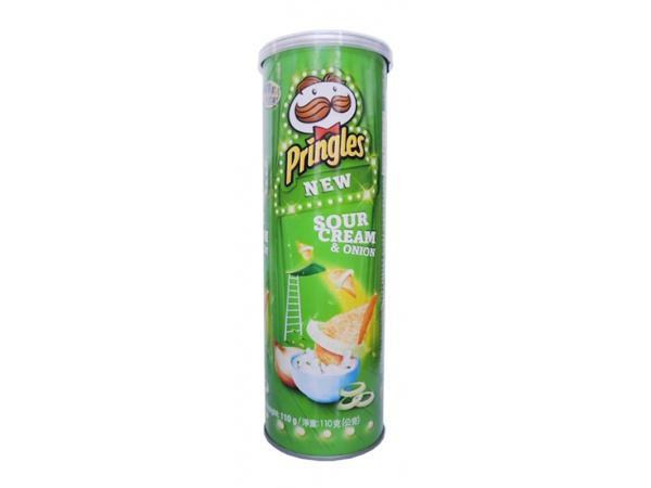 品客洋芋片-洋蔥味110g/罐*3罐●加贈品客收納罐(送完為止)【合迷雅好物商城】