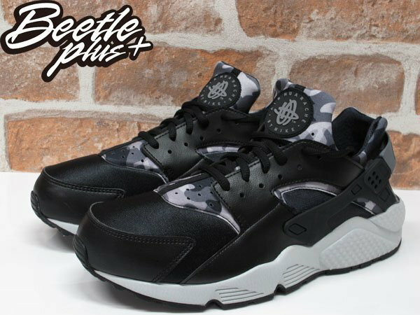 BEETLE WMNS NIKE AIR HUARACHE RUN PRINT 黑白 迷彩 武士鞋 725076-003 US12 1
