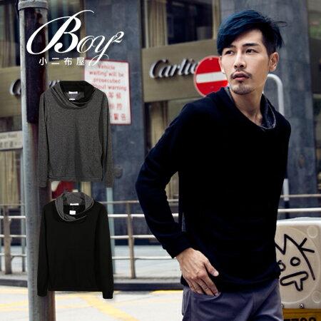 ☆BOY-2☆【NQ96018】韓系垂領針織薄長袖上衣 0