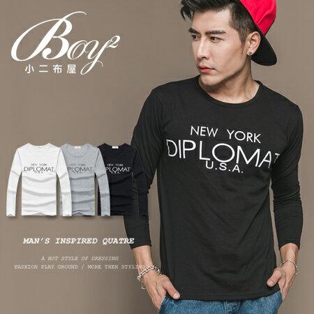 ☆BOY-2☆【NAL121】韓版休閒英文長T恤 0