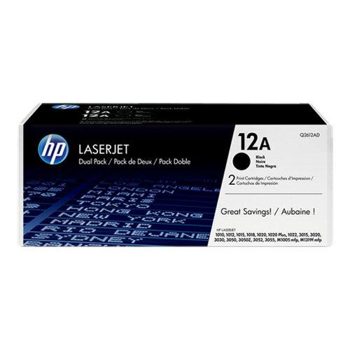 HP Q2612AD 原廠黑色碳粉匣雙包裝 適用 LJ 1010/1012/1015/1018/1020/1022/M1005mfp