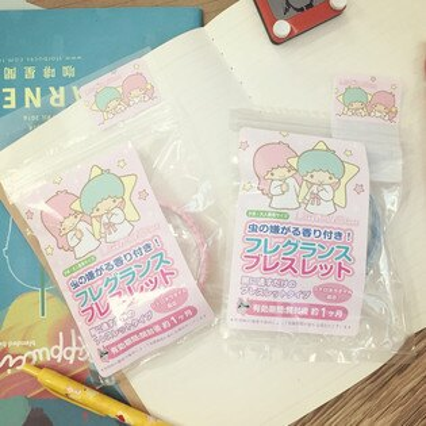 PGS7 日本三麗鷗系列商品 - 三麗鷗 Kikilala 雙子星 造型 防蚊 手環 手圈 夏天 必備
