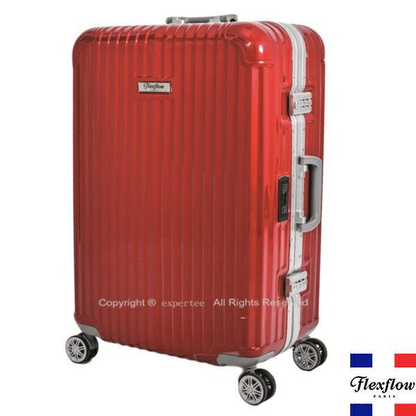 請詢問庫存【騷包館】Flexflow 法國精品 26吋 世界第一智能秤重鋁框飛機輪行李旅行箱 紅 FLG16PRL26