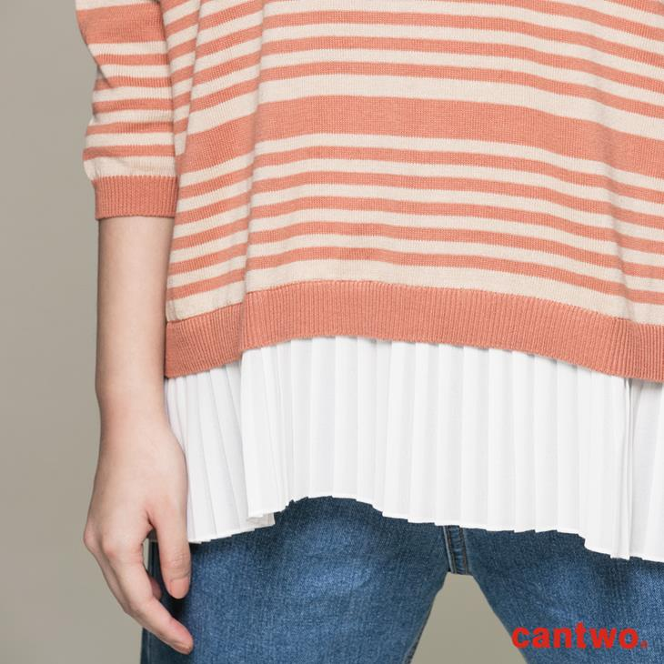 cantwo條紋後釦針織上衣(共三色) 5