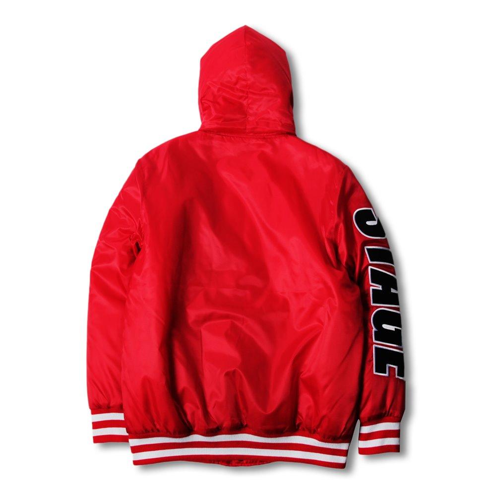 《新品限定優惠》STAGE HOODED BASEBALL JACKET 黑色/紅色 兩色 2