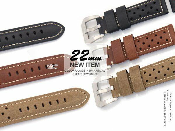 完全計時】手錶館│Panerai 沛納海代用 大型錶扣 進口錶帶 22mm 透氣 造型 限定特價優惠 總共3款~兩款以上更優惠