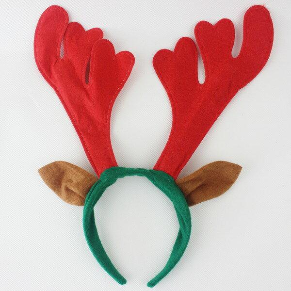 聖誕鹿角 聖誕髮箍 聖誕鹿角髮夾(帶耳朵)/一個入{促40}可愛麋鹿角 聖誕頭圈~3909