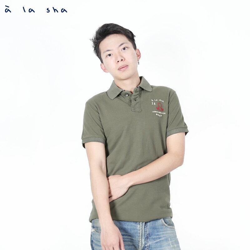 a la sha enco 阿福印花POLO衫(男) 1