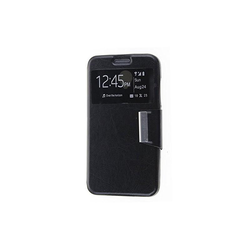 Funda CUERO Tipo LIBRO VENTANA Stand Vodafone Smart Prime 6 / Alcatel One Touch Pop 2 (5) 0