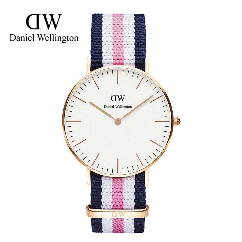 瑞典正品代購 Daniel Wellington 0506DW 玫瑰金 尼龍 帆布錶帶 女錶手錶腕錶 36MM 0