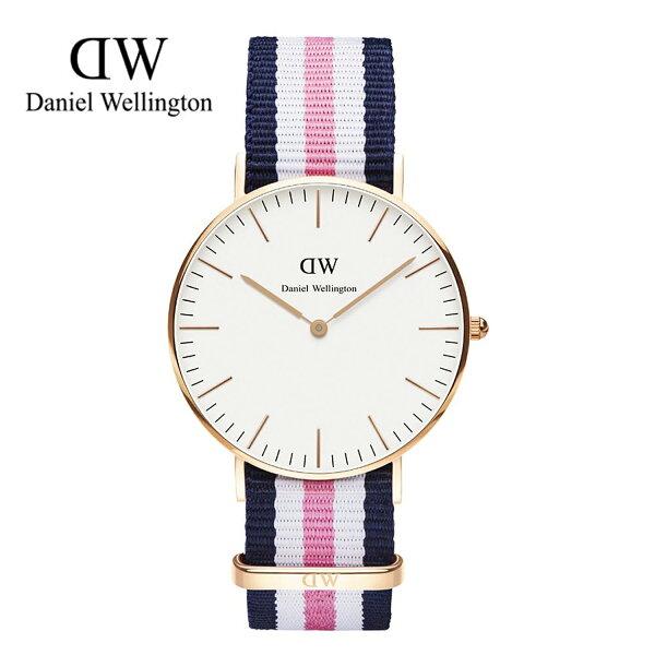 瑞典正品代購 Daniel Wellington 0506DW 玫瑰金 尼龍 帆布錶帶 女錶手錶腕錶 36MM